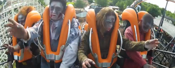 Zombies Are Taking Over - Riding Apocalypse at Six Flags America