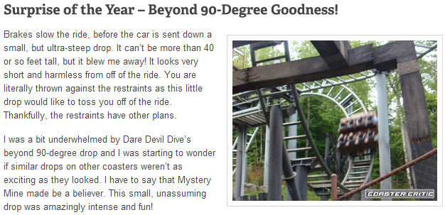 Mystery Mine at Dollywood Review - Ride of the Year