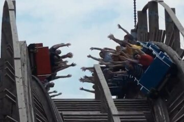 Dauling Dragon - High Five Wooden Coaster - Happy Valley - China