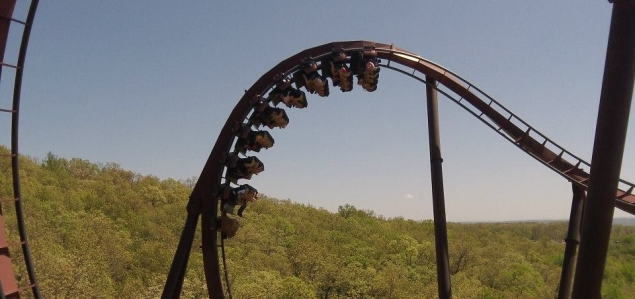 Joel on Wildfire - Cobra Roll - Silver Dollar City