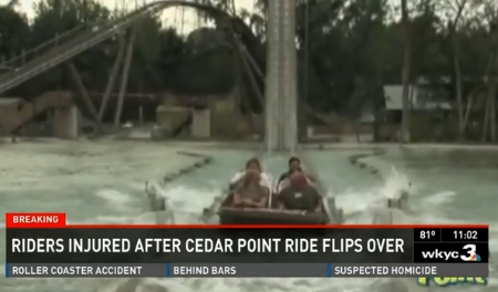 Cedar Point Accident - Shoot the Rapids Ride