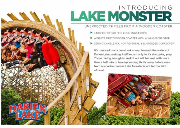 Darien Lake - Lake Monster - Roller Coaster 2014