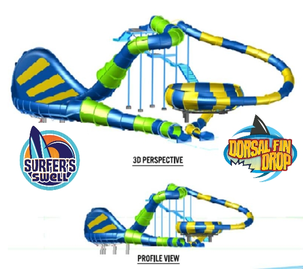 Carowinds New Water Slides 2014