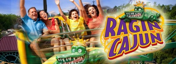 Ragin Cajun Roller Coaster - Six Flags America 2014