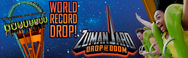 Zumanjaro Drop - Worlds Tallest Drop Ride - Six Flags Great Adventure