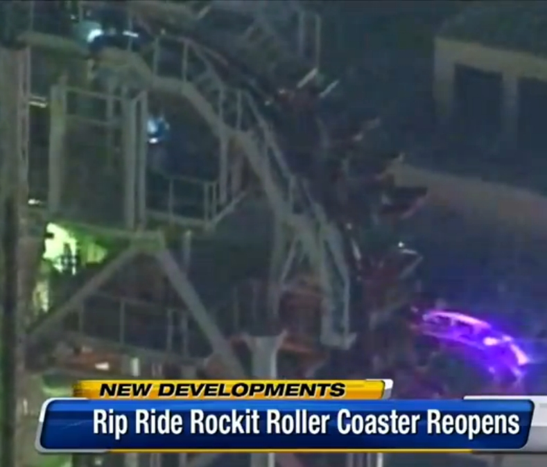 Rip Ride Rockit Reopens After Rider Stuck