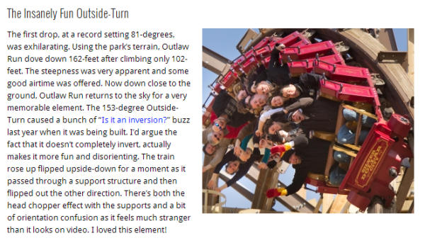 Best Ride Experience of 2013 - Outlaw Run - Silver Dollar City
