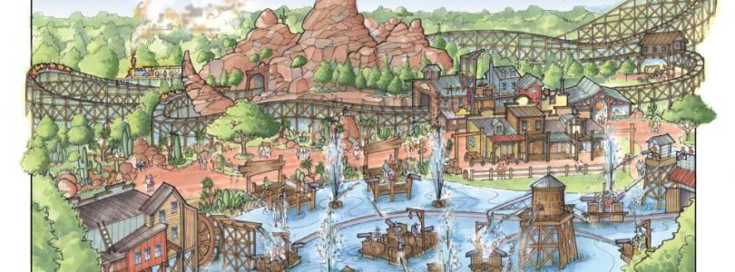 Grand Texas Theme Park - Houston TX - Illustration