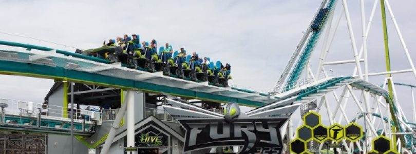 Fury 325 Entrance Station - Carowinds Giga Roller Coaster - sm