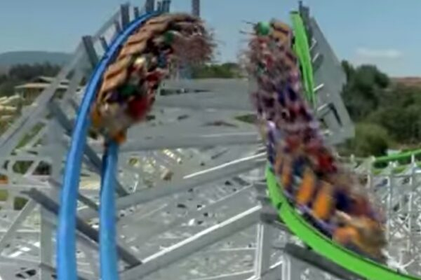 Twisted Colossus Video - Six Flags Magic Mountain