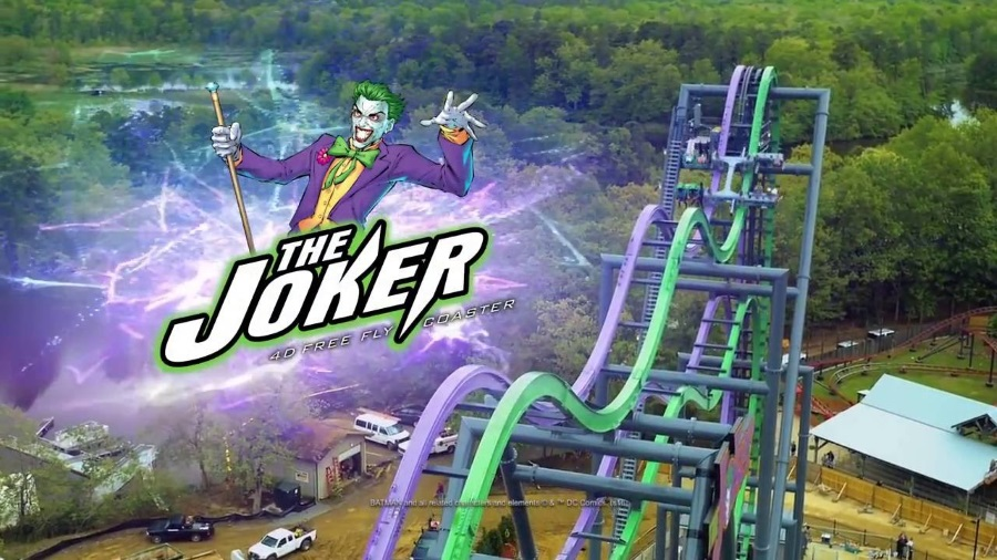 Joker - Six Flags Parks - 4D Roller Coaster - 900