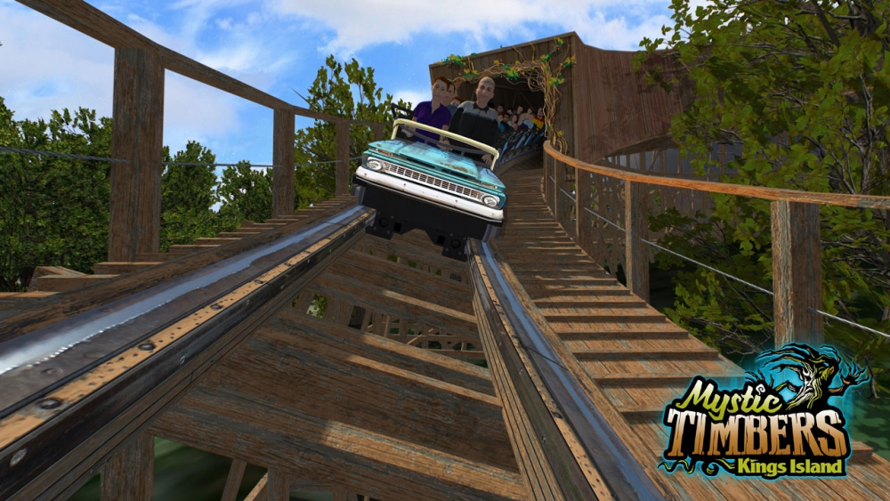 Kings Island - Mystic Timbers Roller Coaster - 2017