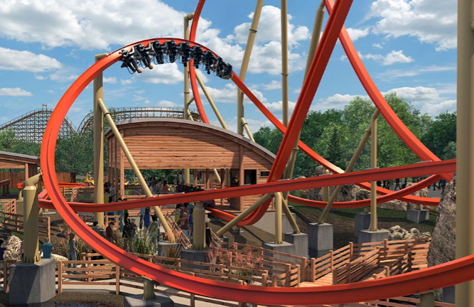 RailBlazer Roller Coaster - Californias Great America - 2018