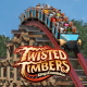 Twisted Timbers Roller Coaster - Kings Dominion