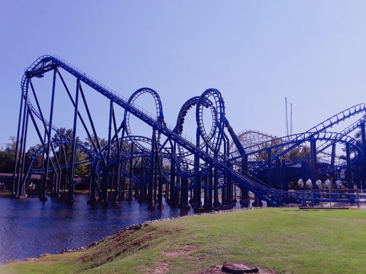 Blue Hawk - Ninja - Roller Coaster Layout - Six Flags Over Georgia