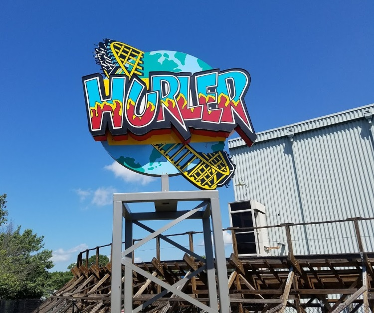 Hurler - Carowinds - Roller Coaster - Sign - 750