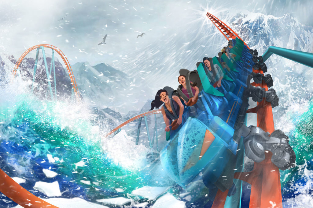 Ice Breaker Roller Coaster - SeaWorld Orlando