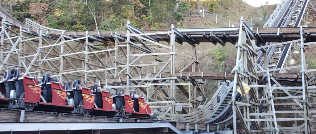 Lightning Rod Launch Lift Hill - Dollywood