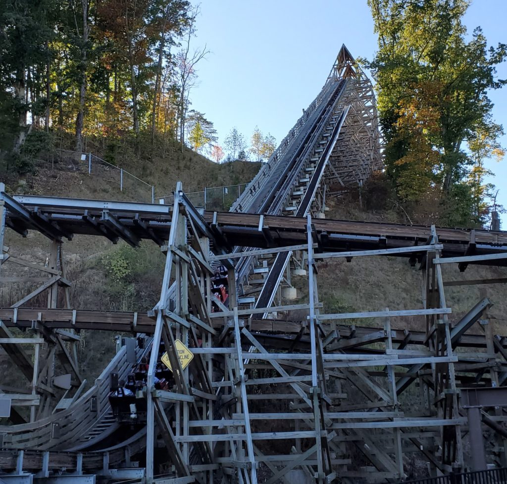 Lightning Rod Launch Lift Hill - Dollywood - Roller Coaster