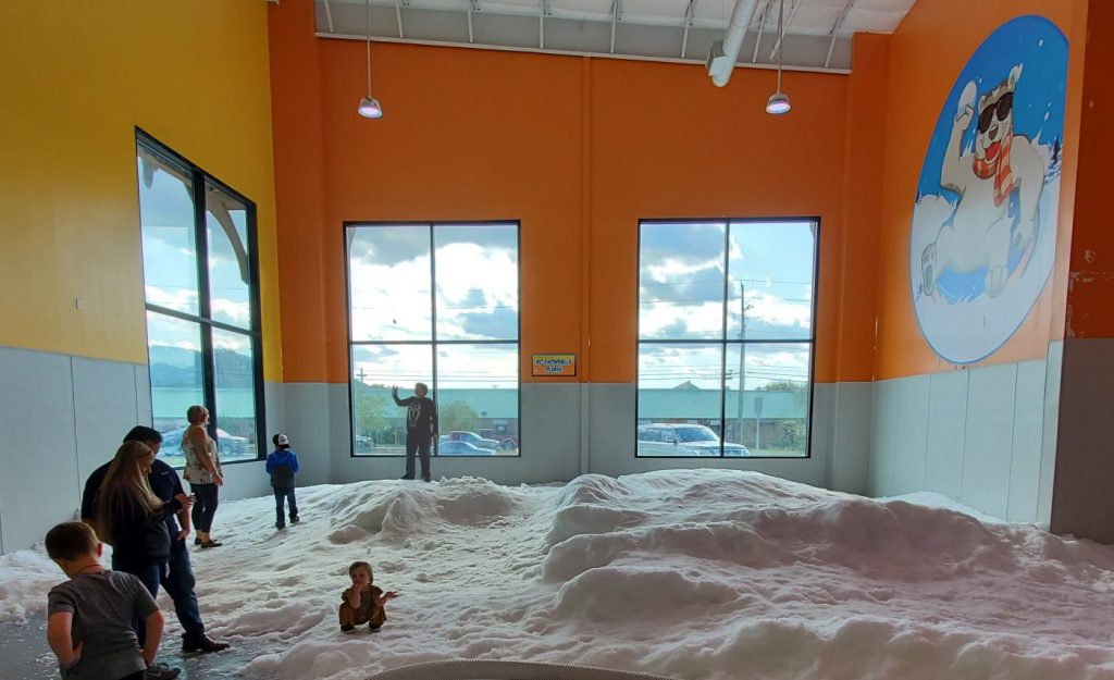 Pigeon Forge Snow Tubing Review - Indoor Snow Play Area