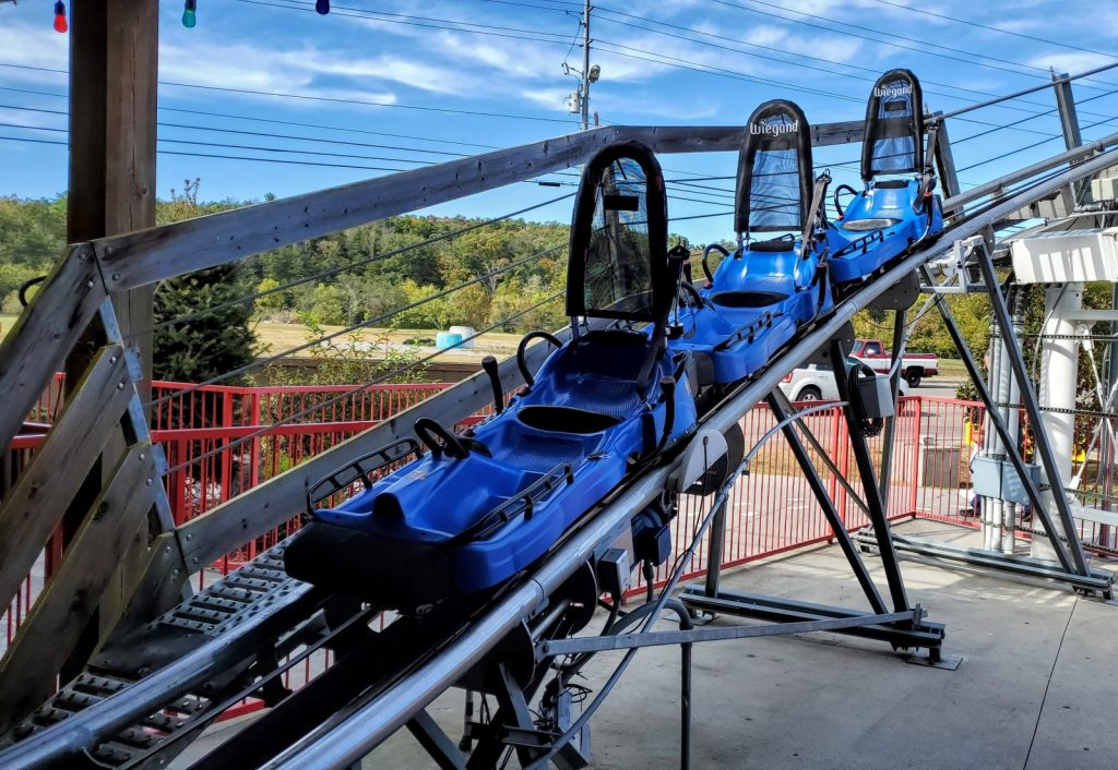 The Coaster Goats on the Roof - Mountain Coaster Sleds Seats