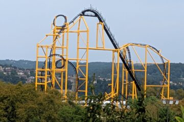 Steel Curtain at Kennywood from Hillside